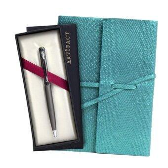 เสนอราคา ชุดเซ็ต ปากกา สมุด สุดคุ้ม ไพธอน Light Blue