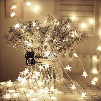 Light it up the STAR 100 LED ไฟประดับดาวตกแต่ง ไฟกระพริบ 10 เมตร - White
