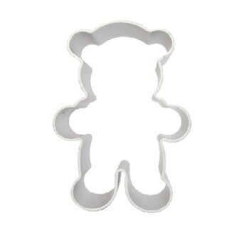 Little Bear Aluminum Cake Cookie Baking Diy Biscuit Mold Tools Kitchen Cutter Silver Bakeware - intl