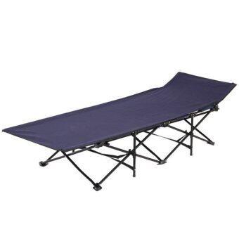 ขอเสนอ Living in Style เตียงพับ แบบพกพา Folding bed (สีน้ำเงิน)