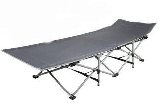 ขายด่วน Living in Style เตียงพับ แบบพกพา Folding bed (สีเทาเข้ม)