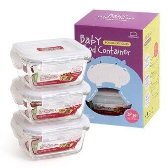 รีวิวพันทิป LOCK & LOCK Oven Glass 160ml 3P Set (Microwave / Oven - Privatecontainer) Baby food container