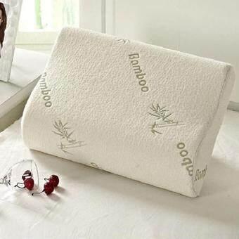 Lvzhi 2Pcs 30x50cm Contour Rebound Memory Foam Pillow Bamboo Fiber HealthHead Neck Support - intl