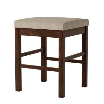 MA MAISON Sakuma Stool เก้าอี้สตูล 18 นิ้ว (น้ำตาลเบาะสีครีม)