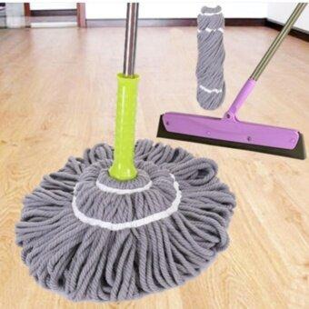 ไม้ถูพื้น ไม้ม๊อบ พร้อมผ้าไมโครไฟเบอร์ Magic Mop (สีเทา)