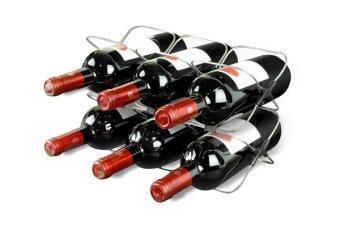 metrokane Rabbit Space Saver 6 Bottle Wine Rack ที่วางขวดไวน์ รุ่น 6106 (Silver/Black)
