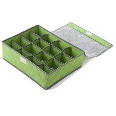 MikiBox กล่องใส่ underwear สีเขียว 16 ช่อง