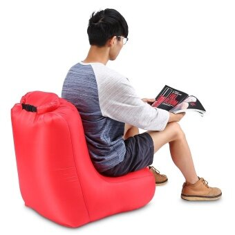 Minicar Red CTSmart DL1620 Portable Water-resistant Max 150kg Loading Fast Inflatable Chair Sofa for Beach Party Rest - intl