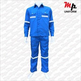MP U025-03 ชุดยูนิฟอร์มช่างผ้า Nomex 4.5 oz. size L (สี Royal blue)