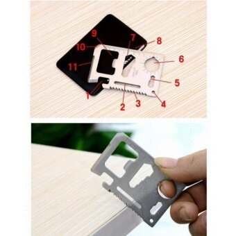 Multi-function 11-in-1 Stainless Steel Card Style Knife Tool(Sliver) - 5