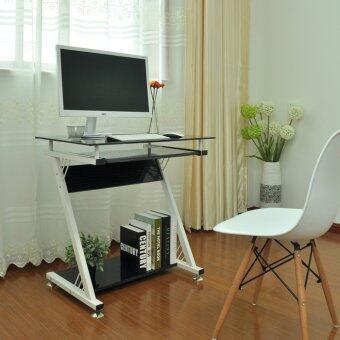 อยากขาย Mylazydesk โต๊ะทำงาน โต๊ะคอมพิวเตอรฺ์ (รุ่น 750B กระจกใสสีดำ ขนาด75 x 46 x 75 cm.)โต๊ะทำงานโมเดิร์น