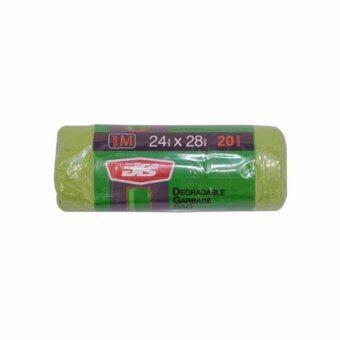 Nanapan Shop ถุงใส่ขยะแบบม้วน ขนาด 24x28 นิ้ว สีเขียว