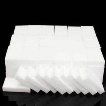 Nano 100Pcs Sponge Magic Magic Wipe The Kitchen CleanCleansingscrub Dish Sponge Magic Sponge Multi-Function FoamCleaning Erasermaterial: Melamine Color: White Size: 10 * 6 * 2Cm