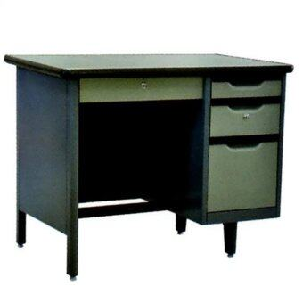 NDL โต๊ะทำงานเหล็ก 4 ฟุต รุ่น TM-2648 (Gray Two tone)