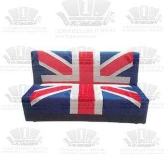 รีวิวพันทิป NDLโซฟาผ้า ปรัปนอนได้ รุ่น Ribbin ขนาด 110cm - ลาย UK
