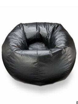 New Brand Bean Bag ทรงกลม ขนาด 50x50x40 cm - สีดำ