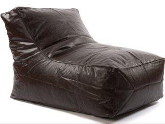 รีวิว New Brand Bean Bag ทรงโซฟาเดี่ยวหนังเทียมมีพนักพิงแบบโค้ง ขนาด70x50x40cm - สีน้ำตาลเข้ม