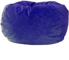 New Brand Beanbag ทรงกลมผ้ากำมะหยี่ ขนาด 80x80x40 cm (สีน้ำเงิน)