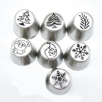 NEW Icing Piping Tips Christmas Tree Special Russian Leaf Nozzle Bakeware Cupcake Cake Decorating Pastry Baking Tools - intl