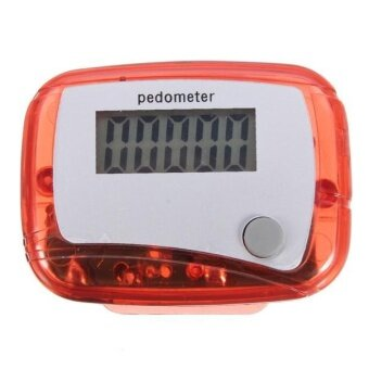 New Portable Multi-colors LCD Pedometer Step Counter from 0 to 9999Red - intl