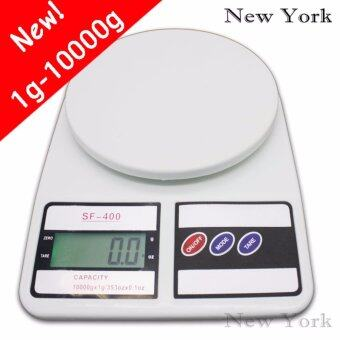 New York Big Sale Digital scales 10Kg เครื่องชั่งน้ำหนักดิจิตอล 10 กิโลกรัม No.031 - สีขาว