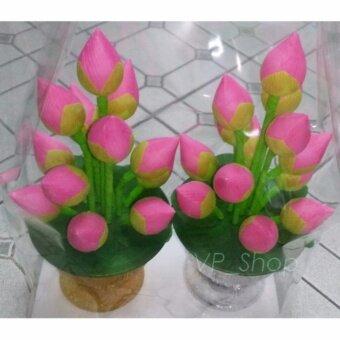 NK Furniline ดอกไม้ประดิษย์ บูชาพระ (กลาง) - พานดอกบัวตูม