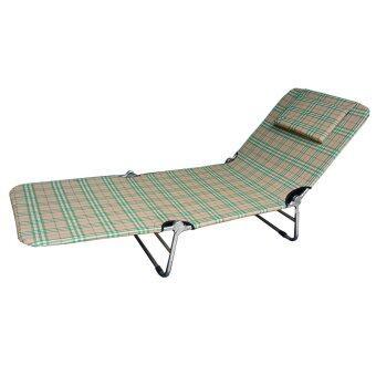 รีวิวพันทิป NK Furniline เตียงสนาม3พับ เตียงผ้าใบ รุ่นลายสก็อต (สีครีมเขียว)