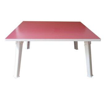 NK Furniline โต๊ะญี่ปุ่น 60x60ซม.(ไม้pbฟอยล์2หน้า) - สีชมพู