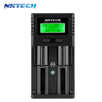 Nktech H2 จอแอลซีดี Car/Wall Battery Charger for 18650 9 V 14500 AA