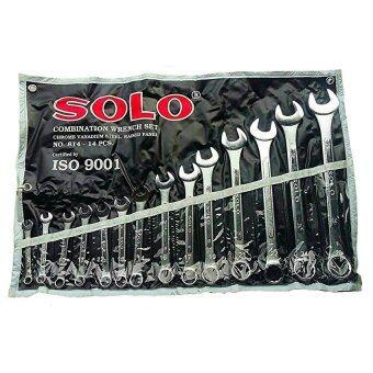 ขาย เครื่องมือช่างโซโล ชุดประแจ ประแหวนข้าง ประแจปากตาย อุปกรณ์งานช่างNo.814 /14ตัวชุด