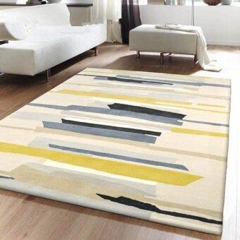 Nordic Style Living Room Carpets Rugs Reatangle Floor Mat Non Slip Sofa Tea Table Mats Soft Bedside Footcloth Absorbent Bedroom Carpet 160*230cm - intl