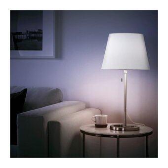 NYFORS โคมไฟตั้งโต๊ะ Table lamp สูง 77 cm (นิเกิล-ขาว)
