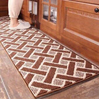 Oil Absorption Long Kitchen Floor Mats Absorbent Carpets for Bedroom Bathroom Durable Sofa Yoga Mat ( Coffee ) 45x180cm - intl