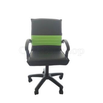 สนใจซื้อ OK&Mshopเก้าอี้สำนักงาน ระบบโช๊คแก็ส รุ่น Office 004(เบาะหนังสีดำ/เขียว)