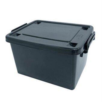 OL&P shop กล่องพลาสติก 30 ลิตร(มีล้อ) สีดำ