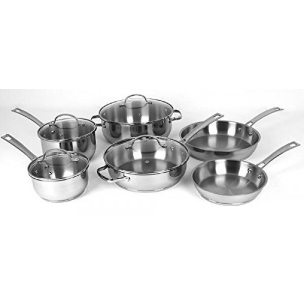 Oneida 10pc stainless steel induction ready for Is ready set decor legit