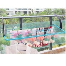 Outlet Multifunctional airing hanger Shoe rack Blue - intl