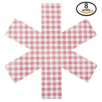 Pan Protectors - Set of 8 - [PLAID RED] - Cookware Guards and Savers Avoid Scratching Kitchenware Fajita Surface Protector All Sizes - intl