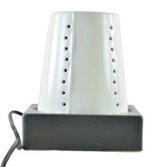 Pasha เตาน้ำมันหอมพอสเลน ระบบไฟฟฟ้า Pasha Cone - Glaze White