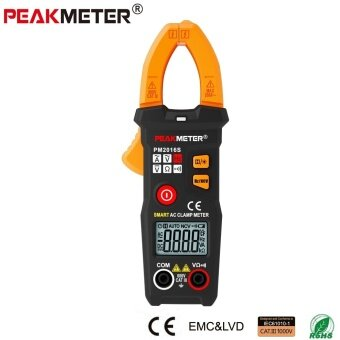 PEAKMETER PM2016S Digital AC Clamp Meter Multimeter with ResistanceFrequency Data Hold NCV Tester - intl
