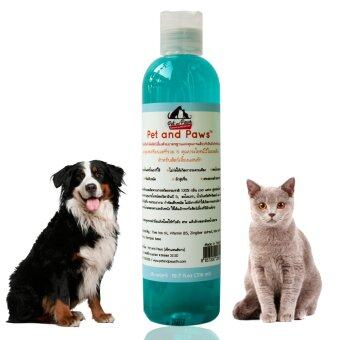 Pet and Paws แชมพูผสมครีมนวดสำหรับสุนัขและแมว สูตรอ่อนโยน บำรุงขนผิว ไม่แพ้ 100% (image 1)