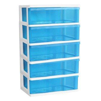 PICNICPLAST ตู้ลิ้นชักพลาสติก 5 ชั้น - สีฟ้า