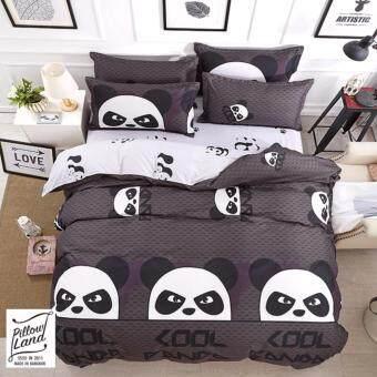 Pillow Land ผ้าปูที่นอน ชุดผ้านวม 6 ฟุต 6 ชิ้น - BB 102