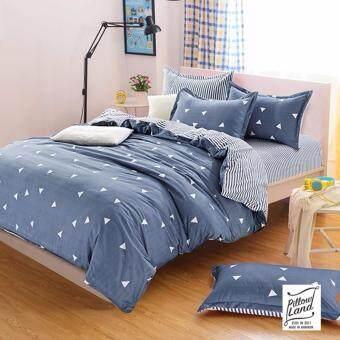 Pillow Land ผ้าปูที่นอน ชุดผ้านวม เกรด A 6 ฟุต 6 ชิ้น - NY 101