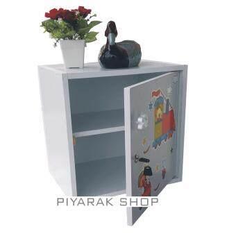 ประกาศขาย Piyalak shop ตู้เซฟวินเทจ ตู้เก็บของ ตู้ข้างเตียง ตู้อเนกประสงค์รุ่น Safe Box1-2 (สีลายภาพการ์ตูน/ขาว)