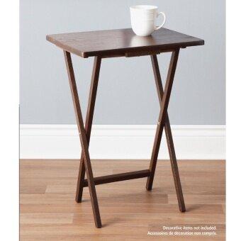 ประกาศขาย PJ Wood โต๊ะพับ ไม้ยางพารา (สีวอลนัท)