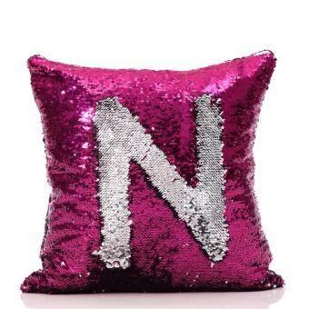 ปลอกหมอนอิง เรียบหรู ดูแพง ทำมือ เกรดพรีเมี่ยม Handmade Swiftable Mermaid Sequin Pillow Cover