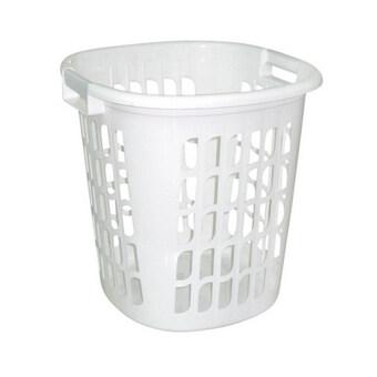 Play Boutique ตะกร้าพลาสติกทรงเหลี่ยม สีขาว