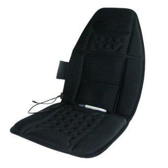 PM.AM เบาะนวดในรถยนต์ในบ้าน และในที่ทำงาน (ระบบสั่น) - สีดำ