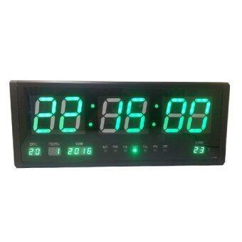 PM.AM นาฬิกาแขวนผนัง LED ไฟสีเขียว – รุ่นหนา